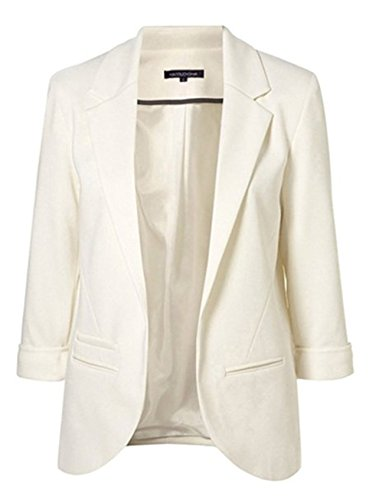 Tailloday Womens OL Roll Sleeve Candy OL Slim Cardigan Suit Blazer M Roll Sleeve Cardigan