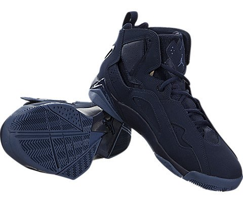 Nike Jordan Men's Jordan True Flight Basketball Shoe Obsidian/Ocean Fog 7.5 D(M) US by Jordan (Image #2)
