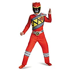 Disguise Red Ranger Dino Charge Classic Costume, Medium (7-8)