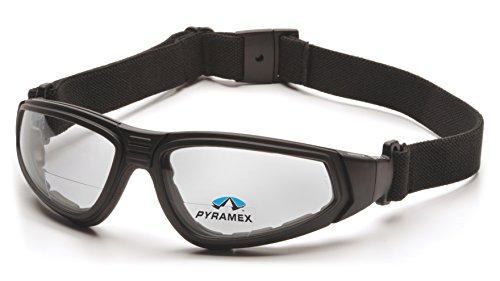 Pyramex XSG Reader Safety Glasses, Black Frame/Clear Anti-Fog + 2.5 Lens