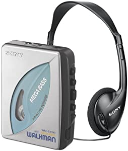 sony walkman cassette player. sony wm-ex190 walkman stereo cassette player with anti-rolling mechanism amazon.com