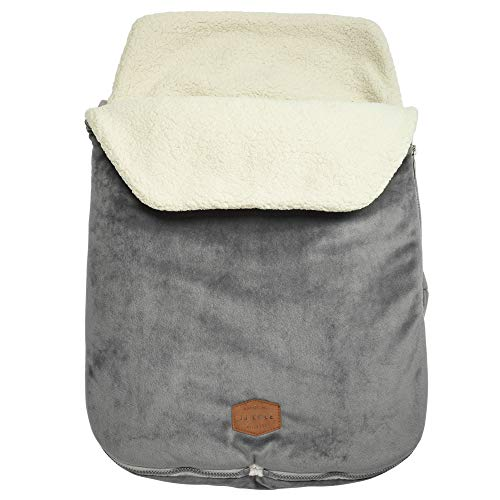 JJ Cole - Original Bundleme, Canopy Style Bunting Bag to Protect Baby from Cold and Winter Weather in Car Seats and Strollers, Graphite, Infant (Best Cars For Winter Weather)