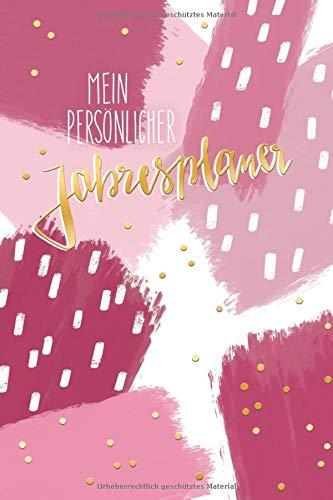 Mein persönlicher Jahresplaner: Datum unabhängig, Jahresplaner zum selbst eintragen, traniges Design, große Wochenansichten auf Doppelseiten (German Edition) (Mein Großer Kopf Freund)