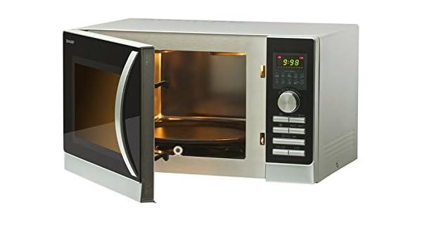 Sharp R-844INW - Microondas (Encimera, Microondas combinado, 25 L ...