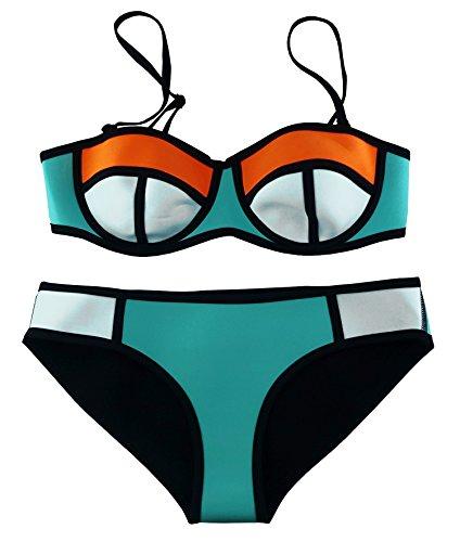 Cocoship Multicolor Neoprene Colorful Swimsuit