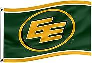 Edmonton Eskimos EE Flag 3x5Ft CFL Logo Heavy Duty Shiny satin Banner New-Ideal Gift for the Loyal Sports Fan