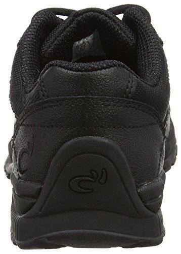 Rhino , Jungen Sneaker Schwarz schwarz, Schwarz - schwarzes Leder - Größe: L2