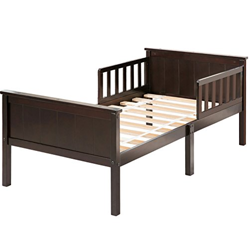 Harper&Bright Designs Toddler Bed with Headboard and Footboard (Inner Floor Frame Support)