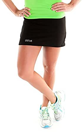 My Inspire Wear Women's Bamboo Skort, Extra Small, Black