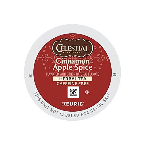 Celestial Seasonings Cinnamon Apple Spice, Single Serve Coffee K-Cup Pod, Flavored Coffee, ()