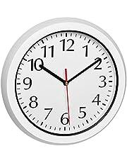 TFA Dostmann Väggklocka utomhus 60.3542.02, trådlös väggklocka, väderbeständig, med glaslock, vit, (l) 305 x (b) 56 x (h) 305 mm