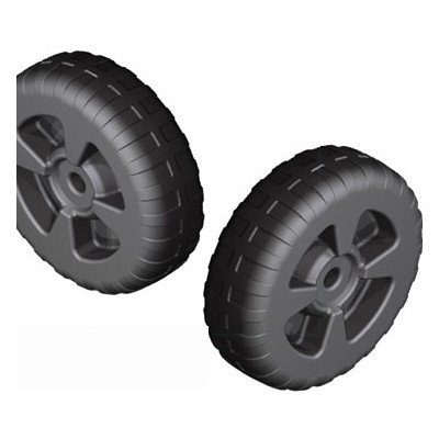 QUALITY MARK Heavy Duty Plastic Wheels, 1 Pair (Wheels Only) 28197 by QUALITY MARK