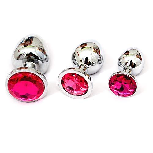 Jetamie 3 Set Metall Jeweled Crystal Plug Toys for Beginners