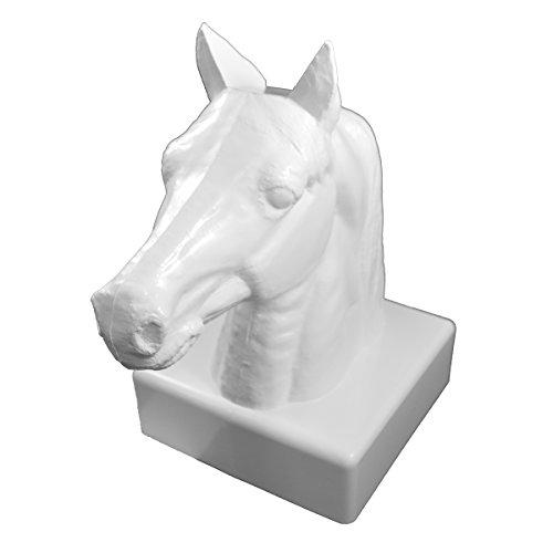 - Durable White PVC Vinyl Horse Head Post Cap For A True 5 Inch X 5 Inch Post | Single Pack | AWCP-HORSEHEAD-5