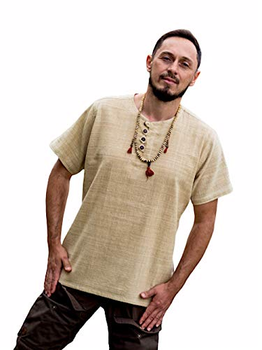 Dress for Earth Hemp Shirt Handwoven Shirt Hemp Mens Hemp Burning Man (Large)