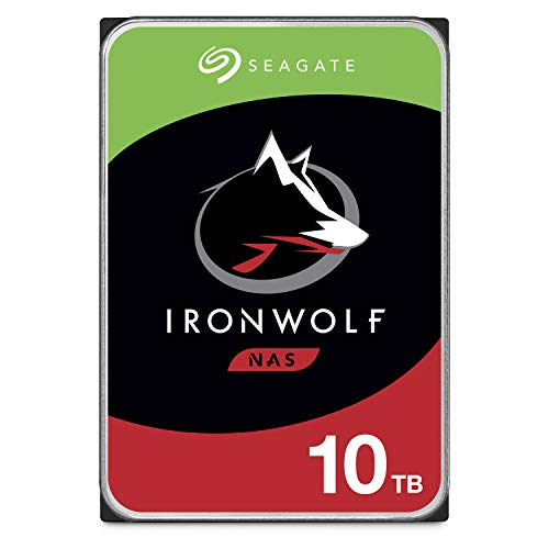 Seagate IronWolf 10TB NAS Internal Hard Drive HDD - 3.5 Inch SATA 6Gb/s 7200 RPM 256MB Cache RAID Network Attached Storage Home Servers - Frustration Free Packaging (ST10000VN0004)