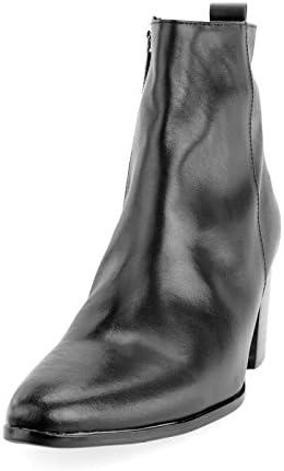 ショートブーツ ヒールブーツ メンズ ハイヒールブーツ 本革 レザー スエード センターシーム 厚底 サイドジップ レッドソール 春 紳士靴 ユニセックス V系 ヴィジュアル系 ビジュアル系 [ELB505-1 ] [ BZC023 ]