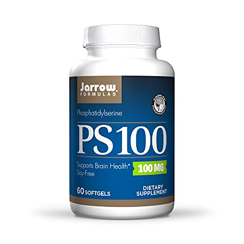 Jarrow Formulas 100 mg Phosphatidylserine (PS 100), Supports Brain Health, Soy Free, White, 60 Count