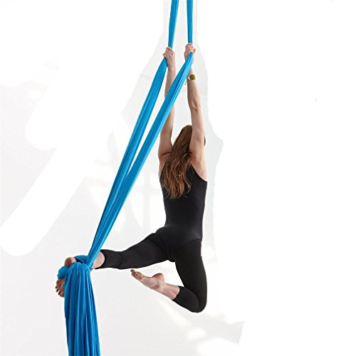 Dasking Premium Aerial Silks Equipment - Safe Deluxe Aerial Kit (Light Blue)