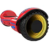 Gyrocopters 8FINITI All Terrain Hoverboard with Mirror LED Wheels, Bluetooth, No Fall Technology and UL2272 Certified – Red