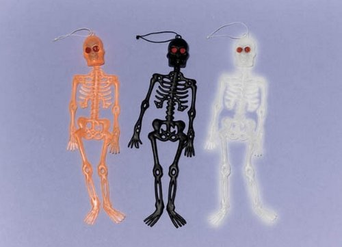 Family Friendly Halloween Trick or Treat Mini Skeletons Party Favour, Plastic, 10