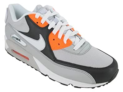 the latest d95e8 b71ca Amazon.com | Nike Air Max 90, Grey/White/Orange Uk Size ...