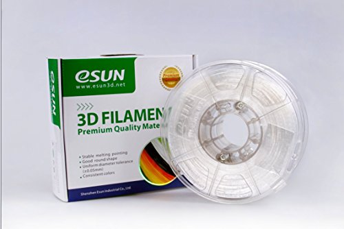 eSUN 1.75mm ePC filament Natural 0.5kg(1.1lb) Spool for Makerbot, Reprap, UP, Afinia, Flash Forge and all FDM 3D Printers, Semi-Transparent 1.75mm ePC