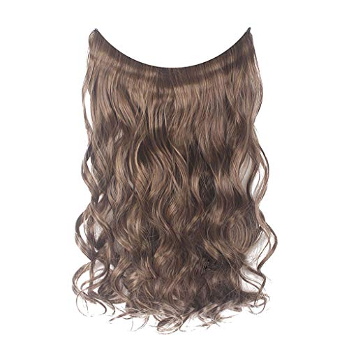 Willsa Fashion Thick Clip in Hair extensions Straight Curls Full Head Hairpiece Clip