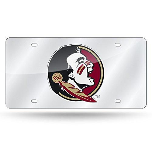NCAA Florida State Seminoles Mirror Silver License Laser Tag (Florida State Seminoles License Plate)