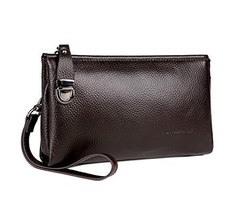 - Men's Clutch Bag Handbags Genuine Leather Wallets Business Organizer Purse Rangren