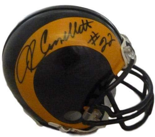 (John Cappelletti Autographed St. Louis Rams mini helmet JSA)
