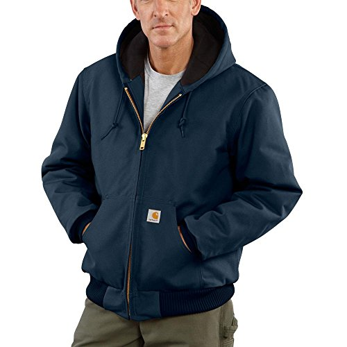 Carhartt Men's J140 Duck Active Jacket - Quilted Flannel Lined - Large - Dark Navy