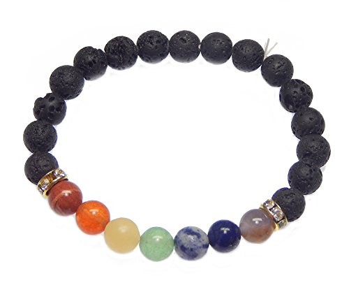 - Myhealingworld Gemstone Beaded Bracelet 8mm Healing Stone Band Balancing Stretch Wristlet for Men Women
