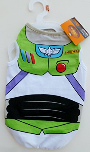 Buzz Dog Costume (Disney Buzz Lightyear Dog Costume T-Shirt Extra Small)