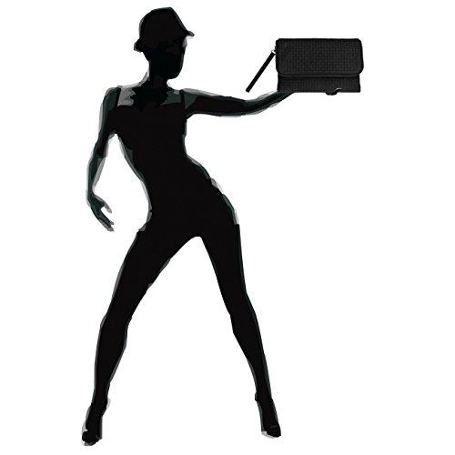 CASPAR Fashion - Cartera de mano para mujer Negro - negro