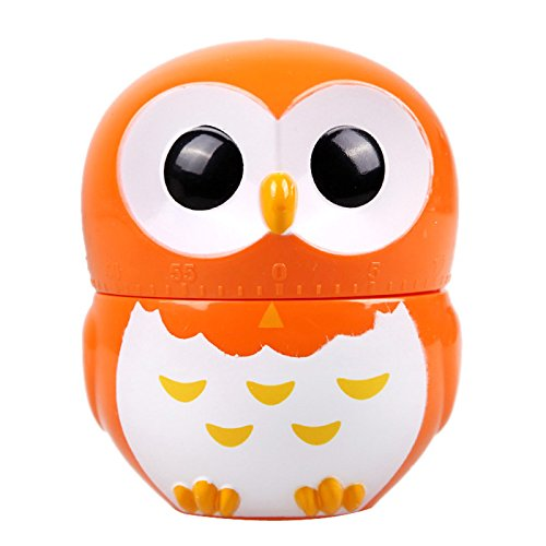 Kitchen Timer - 8 5 6 5cm Orange Cute Cartoon Owl Timers 60 Minutes Cooking Mechanical Home Decoration Dial - Tea Kitty Animal Japan Forev Of Rooster With Dual Alarms