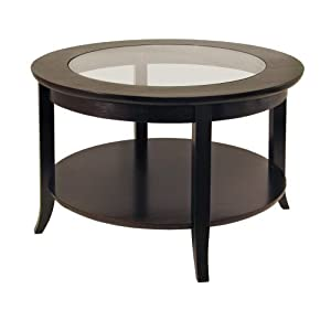 Winsome Wood Round Coffee Table, Espresso – Additional Vibrant Colors Available by TableTop King