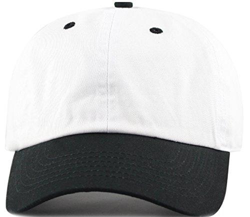 MIRMARU Two Tone 100% Cotton Stonewashed Cap Adjustable Hat Low Profile Baseball Cap.