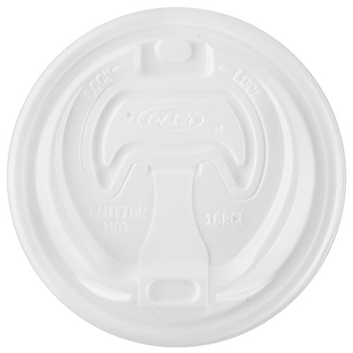 le Lid For Foam Cups and Containers, White, 100 Piece (Dart Foam Cup Lid)