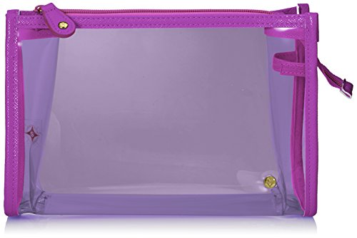 Stephanie Johnson Medium Zip Cosmetic Case, Miami Purple