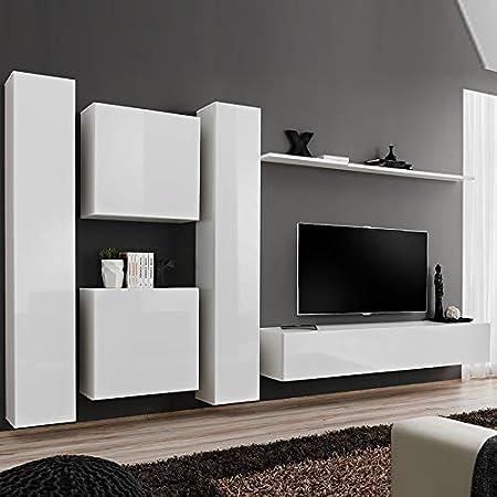 NOUVOMEUBLE GINOSA 3 - Conjunto de Pared para televisor, Color Blanco: Amazon.es: Hogar