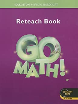 math worksheet : go math! student reteach workbook grade 3 houghton mifflin  : Harcourt Math Worksheets Grade 5