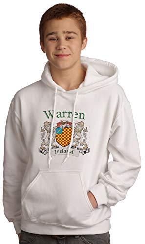 Warren Irish Coat of Arms Hooded Sweatshirt in White