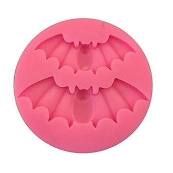 Romote silicona torta de la pasta de jabón Moldes Moldes para Halloween Bat color al azar: Amazon.es: Hogar