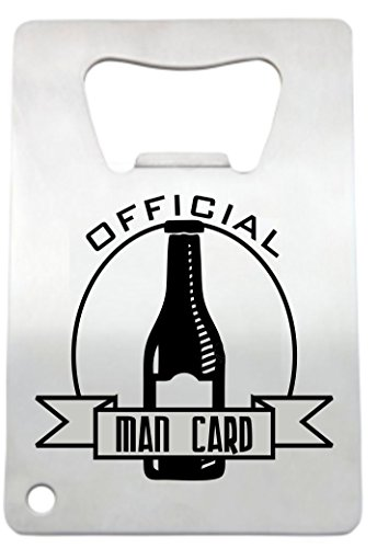 Man Card Bottle Opener by LazerDesigns - Credit Card Size Heavy Duty Stainless Steel Flat Bottle Opener - Laser Engraved Man Card Perfect Gift for Men