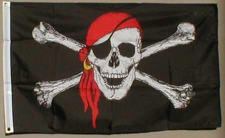 Flaggenking Flaggen/Fahnen, Pirat mit Kopftuch - XXL, Mehrfarbig, 20x15x1 cm,  16349