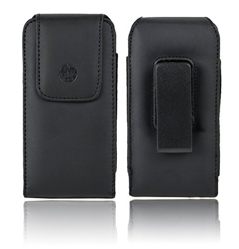 TURIN II Vertical Leather Case Holster with Rotating Belt Clip for iPhone 5]()
