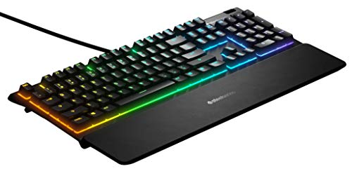 SteelSeries Apex 3 - RGB Gaming Keyboard - 10-Zone RGB Illumination - Premium Magnetic Wrist Rest - English Qwerty Layout PC