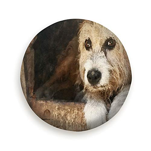 - Tire Cover Watercolor Dog Pet Nude Illustration Animals Wildlife Animal Nature Polyester Universal Spare Wheel Tire Cover Wheel Covers Jeep Trailer Rv SUV Truck Camper Travel Trailer Accessories