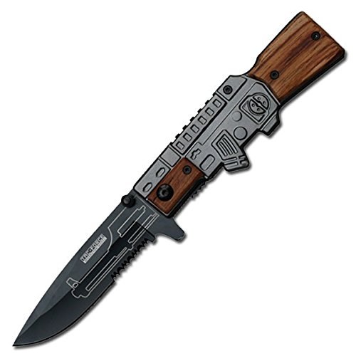 Tactical AK-47 Gun Shaped Pocketknife Spring Assisted